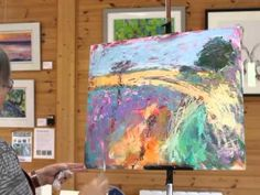 Painting Demonstration Landscape in Oil over Acrylic - YouTube