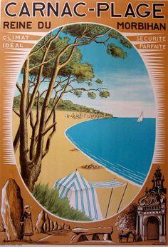 """Vintage poster: """"Carnac-Plage"""" – 1930"""