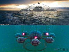 Futuristic city under water - Pauley