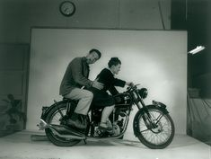 Charles & Ray Eames 1948 on a Velocette