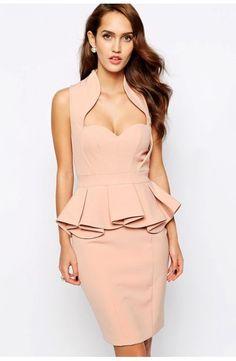 Vestido Peplum escote corazón - Corsets online lenceria vestidos