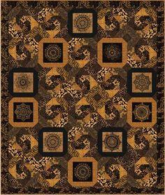 """Timeless Tonga Batiks Babylon Quilt Kit 66.5"""" x 78.5"""""""