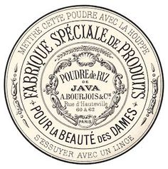 Bourjois celebrates 150 years by The Vanity on SheSaidBeauty Vintage Labels, Vintage Ephemera, Vintage Paper, Vintage Posters, French Typography, Vintage Lettering, Printable Labels, Printables, Collages D'images