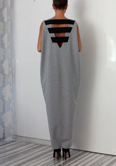 Hey, I found this really awesome Etsy listing at https://www.etsy.com/uk/listing/223591516/gray-oversized-dress-backless-dress-maxi