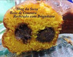 Blog da Suzy : Bolo de Cenoura Recheado com Brigadeiros