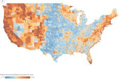 How home value compares to income in the US.
