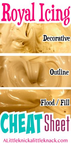 Create the PERFECT royal Icing consistencies to decorate your sugar cookies with. - Create the PERFECT royal Icing consistencies to decorate your sugar cookies with these tips and tri - Iced Cookies, Cookies Et Biscuits, Cupcake Cookies, Cookies With Royal Icing, Sugar Cookie Recipe For Royal Icing, Royal Frosting, Holiday Cookies, Glaze Icing For Sugar Cookies, Sugar Icing