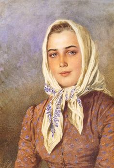 «Впечатления дороже знаний...» - Женские головные уборы... 10. Убрус, платок, шаль    (+++)
