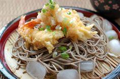 炸蝦天婦羅蕎麥涼麵