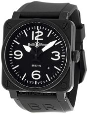 Bell and Ross Aviation Black Dial 42MM Automatic Mens Watch BR03-92-CB