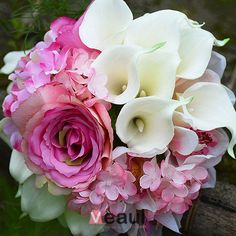 Bröllop Tillbehör Brudbuketter Som Haller Blomma Konstsilke Blomma Calla Lilja Brudbuketter Bröllopsblommor [5315040032] - Veaul.com