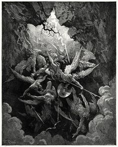 """Gustave Dore engraving for """"Paradise Lost"""""""