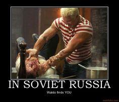 In Soviet Russia, Waldo Finds You