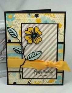 SC426  Birthday Blossom (Memory Box Die - Dogwood Blossom)