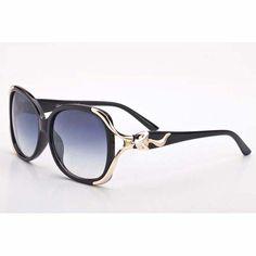 ef51b2b7016 Black beige gold - cartier fox series butterfly frame sunglasses for ...