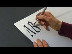 Calligraphy History & Styles : Calligraphy in Rustic Capitals - YouTube - I love this hand. Rustic and Latin Cursive are such intriguing and lovely hands of the mid to latter Roman Empire. I must get myself some good reed pens, vellum/papyrus/linen, and wax tablets and practice!!