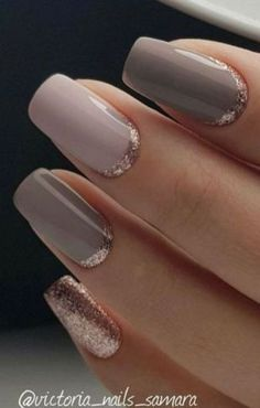 Grey is the new black and one of the hottest nail colors this season! Take a look at these stunning 40 grey acrylic nail designs for your inspiration! Grey Acrylic Nails, Simple Acrylic Nails, Gold Nails, Nude Nails, Coffin Nails, Glitter Nails, Pointy Nails, Marble Nails, Acrylic Art