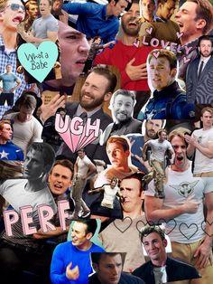 Marvel trash + rants - Chris Evans collage #wattpad #rastgele