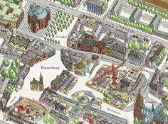 Frankfurt 3D Map (work in progress) by Borgarmynd