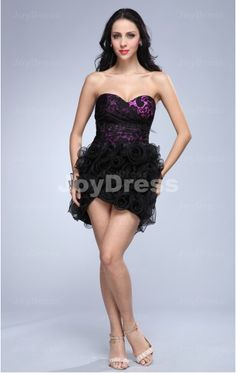 buy dresses at www.joydress.co.uk  Ruffle Ball Gown Sweetheart Short Dress   £61.00
