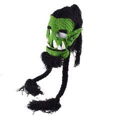Funny handmade winter warm Women men Kids wool mustache knitted hats pirate face mask wig beard beanies