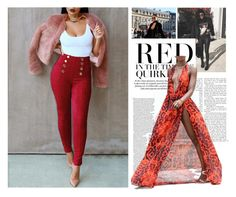 """""""red red red !"""" by suger-520 on Polyvore featuring jeans and lovelywholesale"""