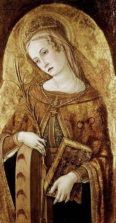.        Vittore Crivelli (1444/9 - 1501/2):St Catherine of Alexandria    (via rhaegartargaryen)