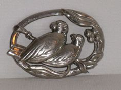 Austria Silver Tone Large Bird Pair by delightfullyvintage on Etsy, $24.00