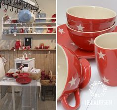Mynte stoneware by Ib Laursen, Display in Strawberry, Nordic Sky and Cafe Latte.