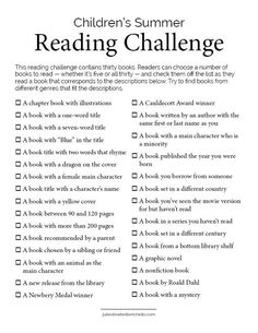 A reading challenge for picky young readers