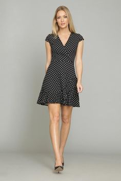 FLARED DOT DRESS Dot Dress, Timeless Design, Luxury Branding, Fall Winter, Dresses For Work, Blouse, Unique, Skirts, Jackets