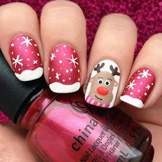 Popular Festive Christmas Nail Art Design Ideas These trendy Nails ideas would gain you amazing compliments. Check out our gallery for more ideas these are trendy this year. Xmas Nail Art, Cute Christmas Nails, Xmas Nails, Christmas Nail Art Designs, Holiday Nails, Holiday Mood, Beach Holiday, Christmas Quotes, Trendy Nails
