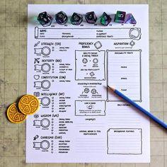 Official Character Sheets Standard Starter Set