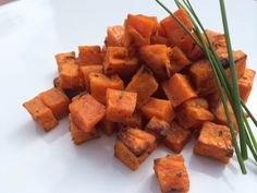 Curry Roasted Sweet Potatoes from Splendid Table. Sounds pretty simple with only four ingredients!