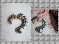 quetzalcoatl inspired earrings by KrinTheCoffee.deviantart.com on @deviantART