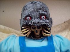 Zombie Baby Horror Doll, Skeleton out of mouth, Ebay