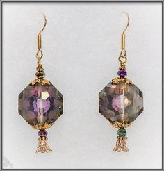 Gorgeous sparkly octagonal crystal earrings