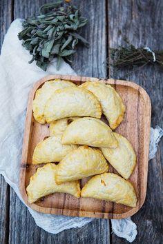 Squash Empanadas with Caramelized Shallots and Goat Cheese recipe | FoodforMyFamily.com