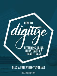 In this post, I'll teach you my favorite way of digitizing my doodles and  lettering by using Image Trace in Illustrator. It's a great way to capture  the quirkiness that comes inherently with hand lettering while still  allowing it to be scaled up to any size without losing image quality, since  your result is vectorized art.