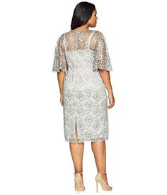 1a9d40c4bae Adrianna papell plus size antique flutter sleeve lace cocktail dress.  Adrianna PapellFlutter SleeveMother Of The BrideCold Shoulder Dress