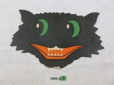 Original Vintage 1940s Beistle H E Luhrs Halloween Black Cat Die Cut Decoration | eBay Retro Halloween, Spooky Halloween, Halloween Party, Original Vintage, Cat Pumpkin, Die Cut, Search And Rescue, Vintage Party, Warm Sweaters