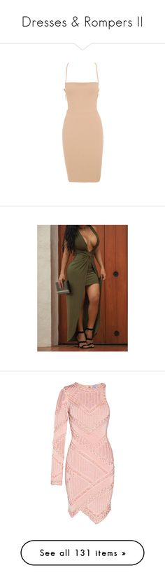 """""""Dresses & Rompers II"""" by janay1206 ❤ liked on Polyvore featuring dresses, laced dress, sexy knee length dresses, knee length dresses, low back dress, lace up dress, outfits, army green, v-neck maxi dresses and v neck maxi dress"""