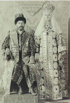 Tsar Nicholas II and Tsaritsa at the Winter Palace costume ball of 1903.