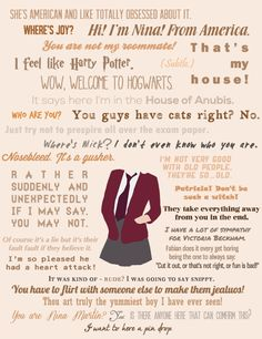 Quotes from the opening episodes of House of Anubis A Series Of Unfortunate Events Quotes, Every Witch Way, House Of Anubis, Welcome To Hogwarts, Hogwarts Houses, Plot Twist, Book Quotes, Fandoms, Writing