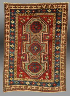 Vintage Antique Bordjalu Rug  southern by tcEclecticImages on Etsy