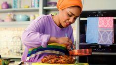 Kiwi and feta salad recipe - BBC Food Nadiya Hussain Recipes, Cooking Time, Cooking Recipes, Vegan Recipes, Bbq Lamb, Feta Salat, Time To Eat, Cucumber Salad, Salads
