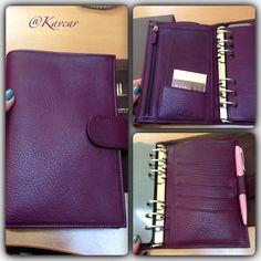 Purple Epoco leather Medium Compagne