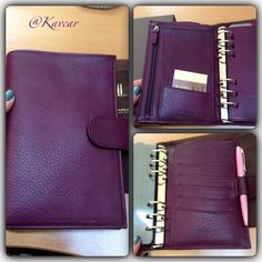 Purple Epoco leather Medium Compagne