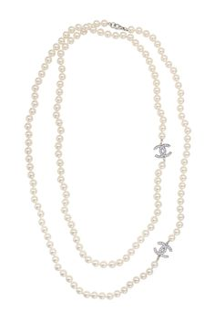 Decades Vintage Vintage Chanel CC Pearl Necklace $225 from Rent The Runway
