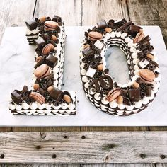 How to make a Chocolate Icebox Number Cake - Simple Bites Number Birthday Cakes, Number Cakes, Birthday Numbers, Cake Birthday, Birthday Cake Decorating, Leap Year Babies, Chess Cake, Sweetened Whipped Cream, Chocolate Wafers